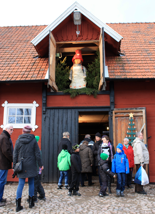 Bubbetorps Christmas Market - Lady Santa Keeping A Watchful Eye