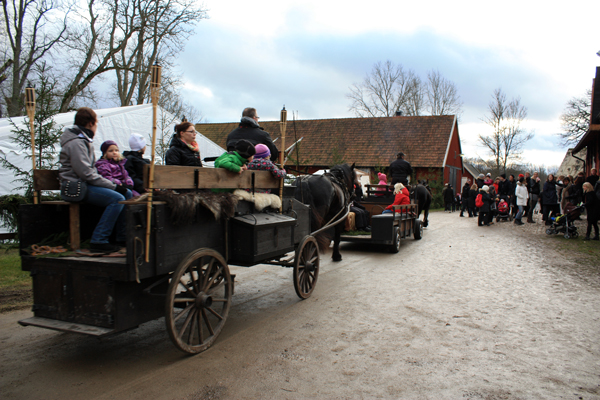 Bubbetorps Christmas Market - Good Old Style Transportation