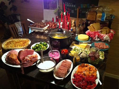 Christmas Eve in Sweden Food