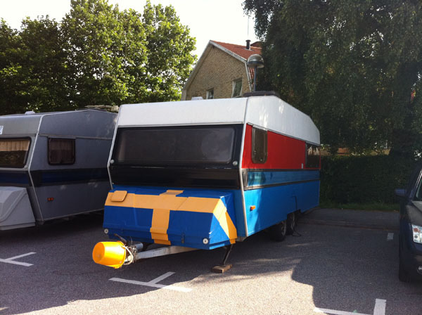 Funny looking caravan in Lyckeby, Sweden