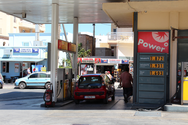 Gas Price Rhodes Greece