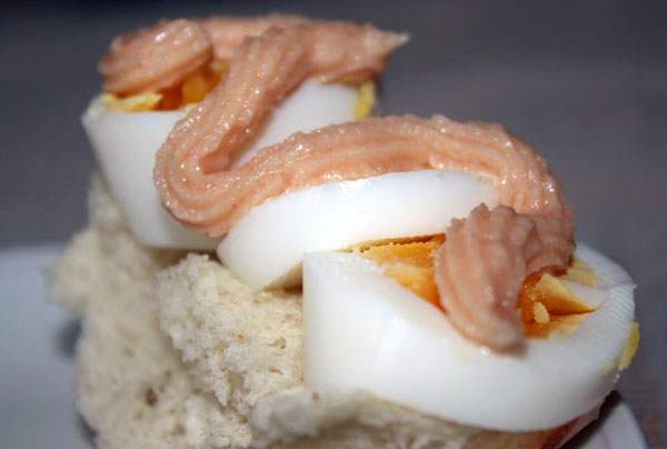 Swedish Kalles Caviar Egg Sandwich