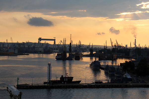 Leaving Gdynia Harbour