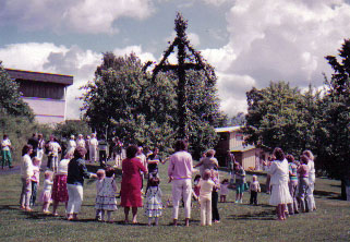 Swedish Traditions - Midsummer Eve Pole