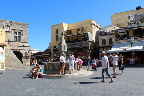 Old Town Square Rhodes Greece