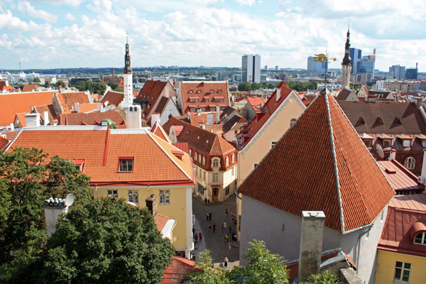 View of Tallinn in Estonia