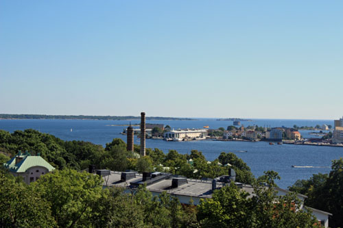 View of Karlskrona in Sweden