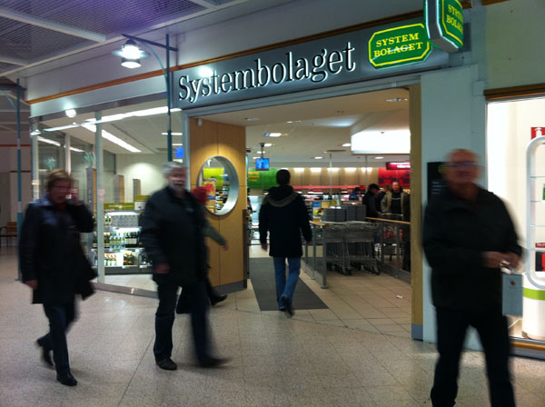 Why alcohol monopoly in Sweden? Systembolaget in Lyckeby.