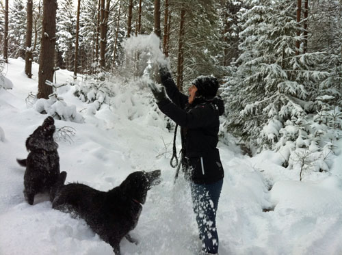 Me Throwing Snow